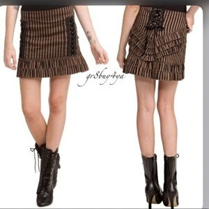 Steampunk stripe skirt